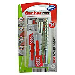 Fischer Duopower Set univerzalnih tipli (Promjer tiple: 14 mm, Duljina tiple: 70 mm, 2 kom)