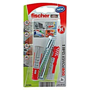 Fischer Duopower Set univerzalnih tipli (Promjer tiple: 12 mm, Duljina tiple: 60 mm, 2 kom)