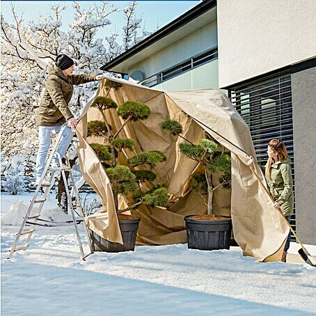 Windhager Winterschutzvlies Superprotect (L x B: 3,9 x 3,5 m, Beige, 100 g/m²)