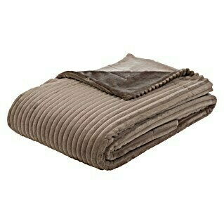 Decke Cord (Taupe, 200 x 150 cm, 100 % Polyester)(Taupe, 200 x 150 cm, 100 % Polyester)