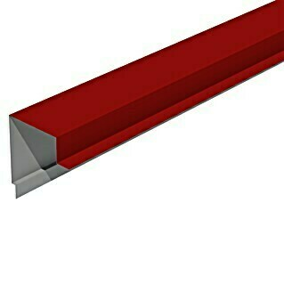 Isopan Perfil de remate lateral Isotego Rojo (4 m x 30 mm x 30 mm, Acero)(4 m x 30 mm x 30 mm, Acero)