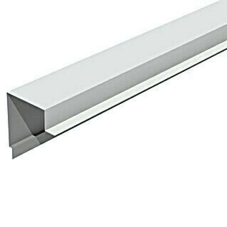 Isopan Perfil de remate lateral Isotego Blanco (4 m x 30 mm x 30 mm, Acero)(4 m x 30 mm x 30 mm, Acero)