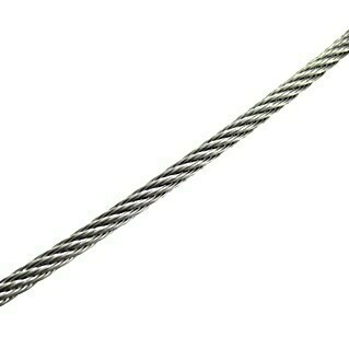 Marinetech Cable metálico a metros (5 mm, Trenzado 7 x 19, Acero inoxidable)(5 mm, Trenzado 7 x 19, Acero inoxidable)