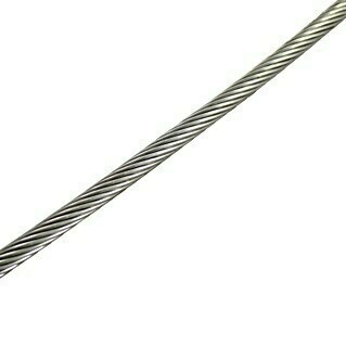 Marinetech Cable metálico a metros (2 mm, Trenzado 1 x 19, Acero inoxidable)(2 mm, Trenzado 1 x 19, Acero inoxidable)