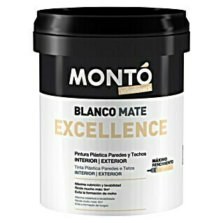 Montó Bricolovers Pintura para paredes Excellence (Blanco, 15 l, Mate)