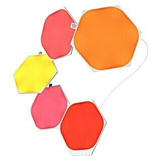 Nanoleaf LED-Panel Shapes Hexagons 5er Starter Set 2. Generation (2 W, Weiß, L x B x H: 20 x 23 x 0,6 cm)(2 W, Weiß, L x B x H: 20 x 23 x 0,6 cm)