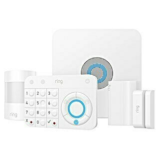 Ring Alarm Starter-Set Security Kit (1 Basisstation, 1 Keypad, 1 Bewegungsmelder, 1 Fenster-/Türkontakt, 1 Signal-Verstärker)