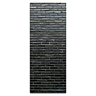 SanDesign Handmuster Black Brick Wall (17,5 cm x 7 cm x 3 mm, Steinoptik)