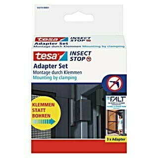tesa Adapter Insect Stop FALT (Anthrazit)(Anthrazit)