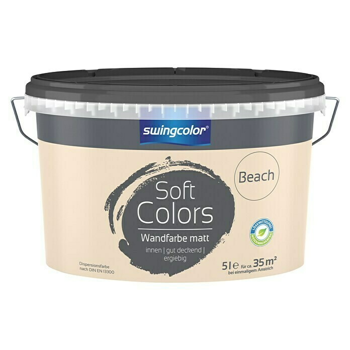 swingcolor Soft Colors Wandfarbe (Beach, 5 l, Matt) - 6208.D005.2537