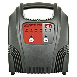 Carpoint Acculader 4A (Uitgangsspanning: 6/12 V, Laadstroom: 4 A, Geschikt voor: Loodaccu's)(Uitgangsspanning: 6/12 V, Laadstroom: 4 A, Geschikt voor: Loodaccu's)