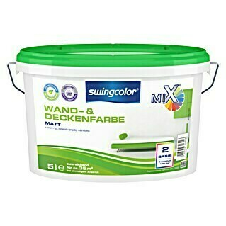 swingcolor Mix Wandfarbe (Basismischfarbe, 5 l, Matt)
