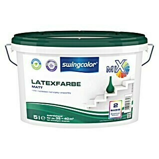 swingcolor Mix Latexfarbe (Basismischfarbe, 5 l, Matt)