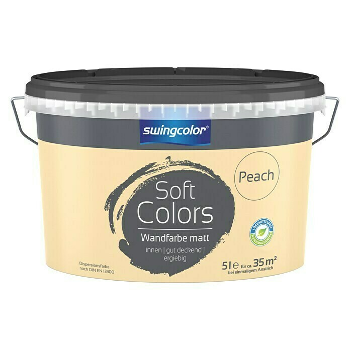 swingcolor Soft Colors Wandfarbe (Peach, 5 l, Matt) -