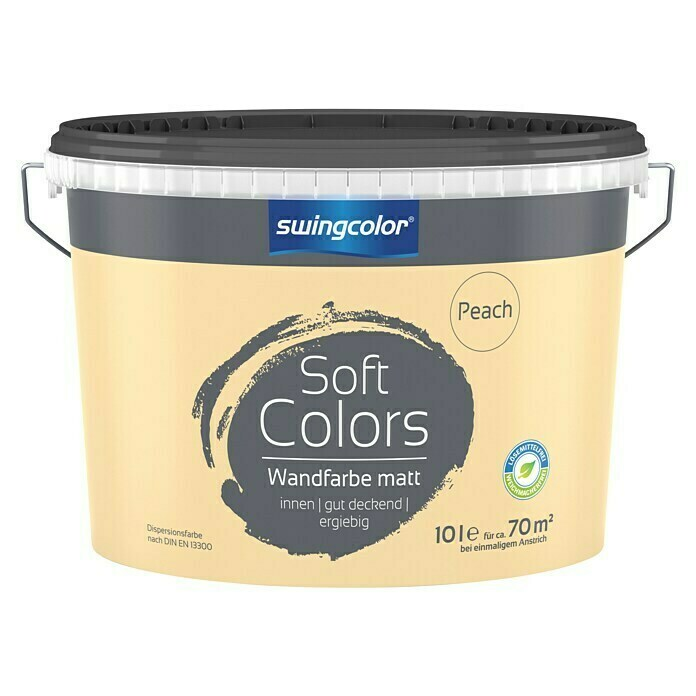 swingcolor Soft Colors Wandfarbe (Peach, 10 l, Matt) -