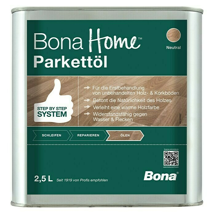 Bona Home Parkett-Öl (Neutral, 2,5 l) -