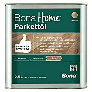 Bona Home Parkett-Öl (Neutral, 2,5 l)