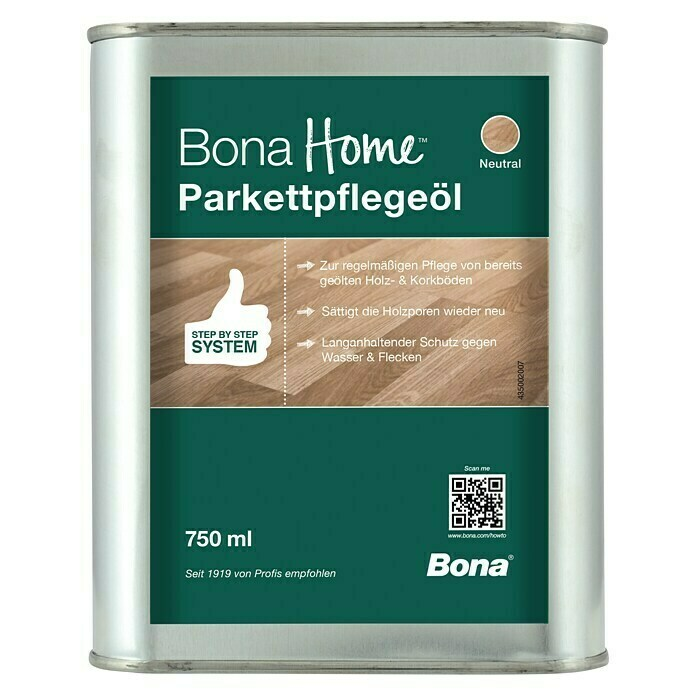 Bona Home Parkett-Pflegeöl (Neutral, 750 ml) -