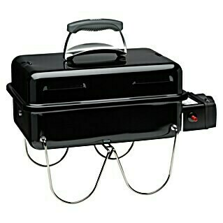 Weber Go-Anywhere Gasgrill (Anzahl Brenner: 1, Hauptgrillfläche: 42 x 26 cm, 1,9 kW)(Anzahl Brenner: 1, Hauptgrillfläche: 42 x 26 cm, 1,9 kW)