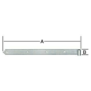 Stabilit Ladenband (B x H: 700 x 45 mm, Stahl, Innendurchmesser Rolle: 16 mm)(B x H: 700 x 45 mm, Stahl, Innendurchmesser Rolle: 16 mm)
