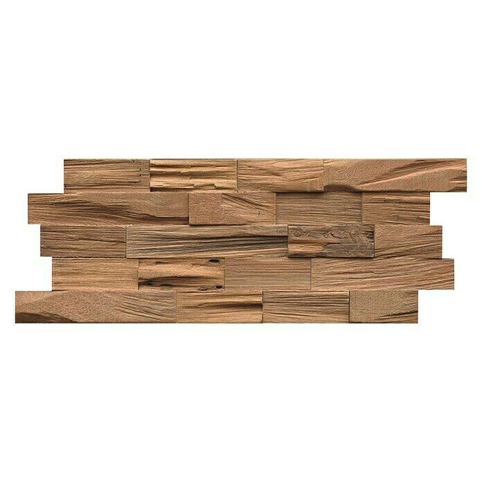 Indo Holzpaneele 3D Wall Nature (Bangkirai, 500 x 200 x 18 mm, 5 Paneele) -