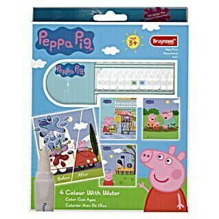 Talens Bruynzeel Set de rotuladores Color con agua Peppa Pig (4 uds., Multicolor)(4 uds., Multicolor)