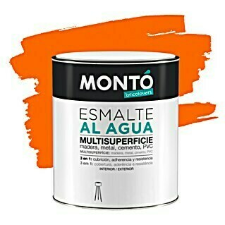Montó Bricolovers Esmalte de color Multisuperficie Mandarina dulce (750 ml, Satinado)(750 ml, Satinado)