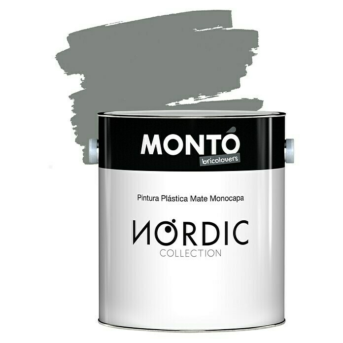 Montó Nordic Collection Pintura para paredes gris morkegra  (4 l, Mate)