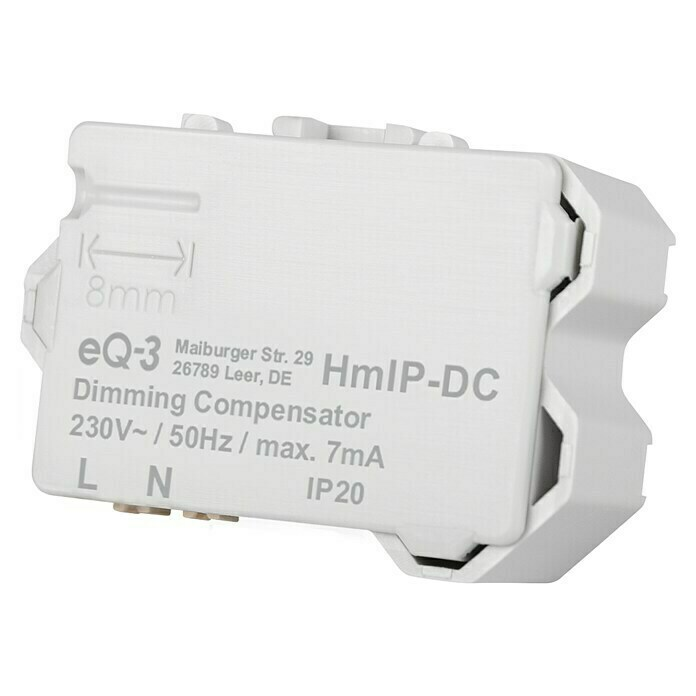 Homematic IP Kompensator für Dimmer (16 x 39 x 28 mm) -