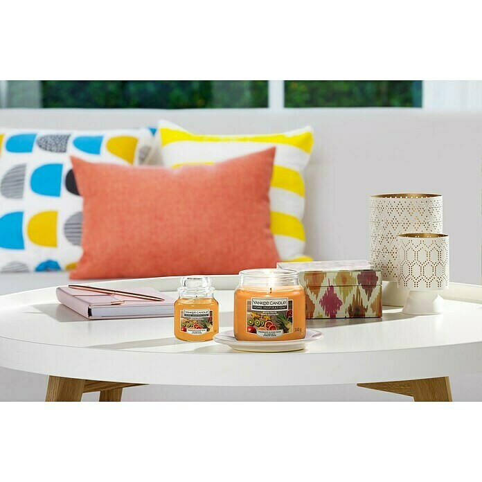Yankee Candle Home Inspirations Duftkerze (Im Glas, Exotic Fruits, Small)