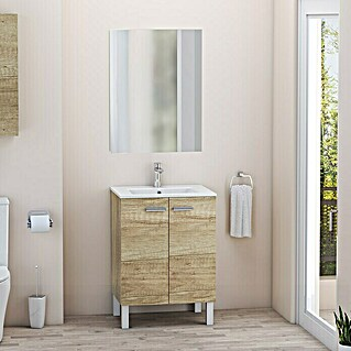Mueble de lavabo Fran kit (L x An x Al: 46 x 60 x 84 cm, Nature, Mate)(L x An x Al: 46 x 60 x 84 cm, Nature, Mate)