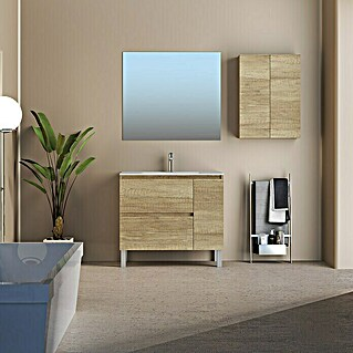 Mueble de lavabo Nia (L x An x Al: 46 x 80 x 79 cm, Nature, Mate)(L x An x Al: 46 x 80 x 79 cm, Nature, Mate)